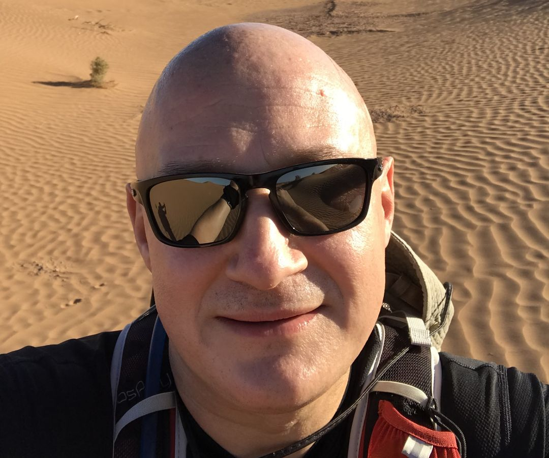 Striding Out in The Sahara Desert